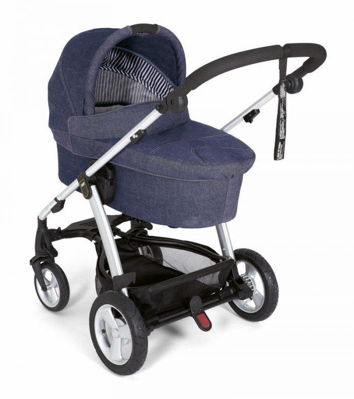 дънкова бебешка количка
