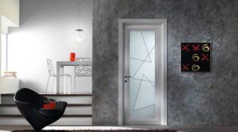 стилна интериорна врата със стъкло
